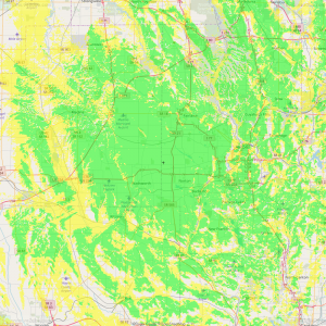 KE8LDH coverage map